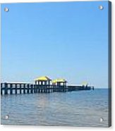 West Side Pier Gulfport Mississippi Acrylic Print