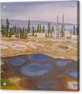 West Thumb Geyser Basin Yellowstone Acrylic Print