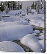 West Thumb Snow Pillows II Acrylic Print