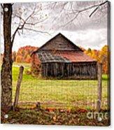 West Virginia Barn In Fall Acrylic Print
