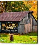 West Virginia Barn Oil Acrylic Print