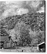 West Virginia Barns Monochrome Acrylic Print