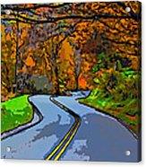 West Virginia Curves 2 Line Art Acrylic Print