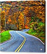 West Virginia Curves 2 Oil Acrylic Print