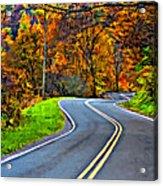 West Virginia Curves Painted Acrylic Print
