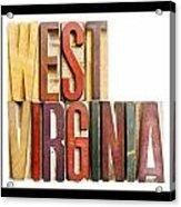 West Virginia Acrylic Print