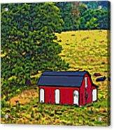 West Virginia Line Art Acrylic Print