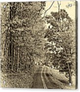 West Virginia Wandering Sepia Acrylic Print
