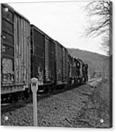 Westbound Train Black And White Acrylic Print