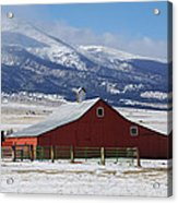 Westcliffe Landmark - The Red Barn Acrylic Print