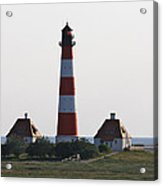 Westerhebersand Lighthouse  I- North Sea - Germany Acrylic Print