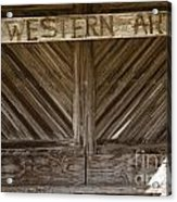 Western Art Barn Doors In Color 3003.02 Acrylic Print