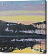 Western Lake Sunrise Acrylic Print
