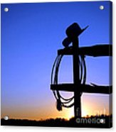 Western Sunset Acrylic Print by Olivier Le Queinec