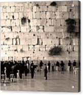 Western Wall Photopaint One Acrylic Print