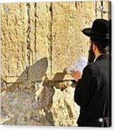 Western Wall Prayer Acrylic Print