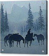 Western Winter Acrylic Print by Randy Follis