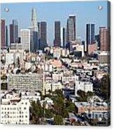 Westlake And Los Angeles Skyline Acrylic Print