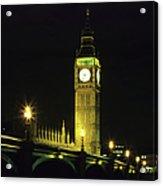 Westminster Bridge And Big Ben At Acrylic Print