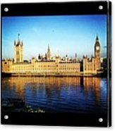 Westminster Reflections Acrylic Print by Maeve O Connell
