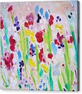 Wet Flowers Acrylic Print
