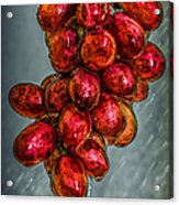 Wet Grapes Four Acrylic Print by Bob Orsillo