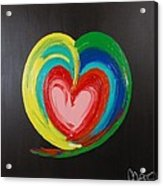 Wet Heart Acrylic Print