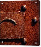 Wet Rust Acrylic Print
