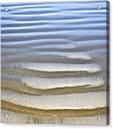 Wet Sand Texture On Ocean Shore Acrylic Print