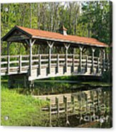Wetland Footbridge Acrylic Print