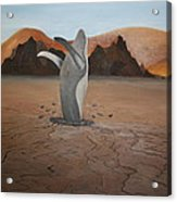 Whale In Desert Acrylic Print