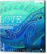 Whale Totem Wordart Acrylic Print