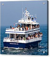 Whale Watching Boat Acrylic Print
