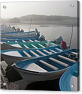 Whale Watching Tour Boats Docked At Acrylic Print