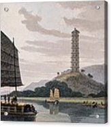 Wham Poa Pagoda, With Boats Sailing Acrylic Print