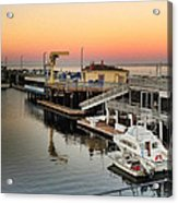 Wharf #2 In Monterey At Sunset Acrylic Print