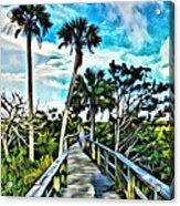 What A Beautiful Boardwalk Acrylic Print