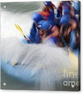 White Water Rafting What A Rush Acrylic Print