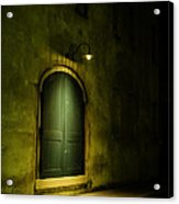 What Is Behind The Green Door? Acrylic Print