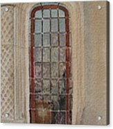 What Is Behind The Window Pane Acrylic Print