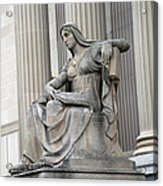 What Is Past Is Prologue Statue At National Archives -- 2 Acrylic Print