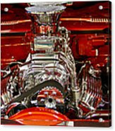 What Is Under The Hood-red Customized Retro Pontiac Acrylic Print