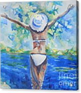 What Lies Ahead Series Forgive Acrylic Print by Chrisann Ellis