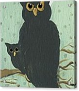 What The Who? Owls  Acrylic Print