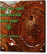 What You Can't Communicate Acrylic Print