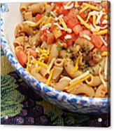 Wheat Pasta Goulash Acrylic Print by Andee Design