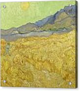 Wheatfield With A Reaper Acrylic Print