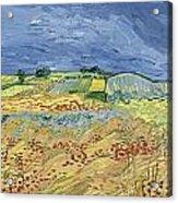 Wheatfield With Stormy Sky Acrylic Print