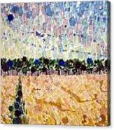 Wheatfields At Dusk Acrylic Print