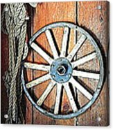 Wheel An Rope Acrylic Print